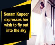 Actress Sonam Kapoor on Monday shared a beautiful throwback picture on Instagram and expressed her desire to fly out in the sky.