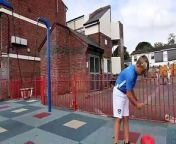 Reggie Mears, eight, was left with a serious head wound after a boy dropped a brick from a five-storey balcony on his head. The brick fractured his skull, forcing him to have a metal plate fitted. Now Reggie's horrified mum has spoken of the ordeal and urged parents to keep a closer eye on their kids.
